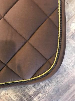 Tapis Palm Beach Dressage Chocolat / Or